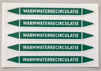 Leidingmarkering Warmwaterrecirculatie